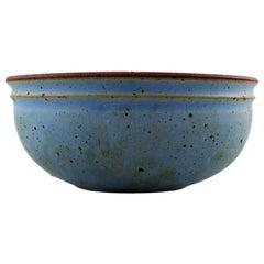 Helle Alpass, Large Bowl of Glazed Stoneware, 1960s-1970s