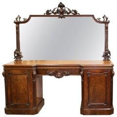Victorian Mahogany Mirrored Sideboard
