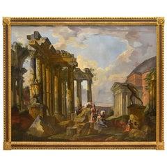 """""""Ruin Landscape"""" (""""Capriccio""""), Oil on Canvas, Possibly Circle of Panini"""