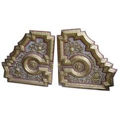 Baroque Wooden Coffering Fragment, Spain
