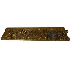 Baroque Wooden Frieze Fragment, Spain