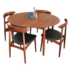 Danish Design Teak Dining Set by Kurt Ostervig and Peter Hvidt & Orla Molgaard