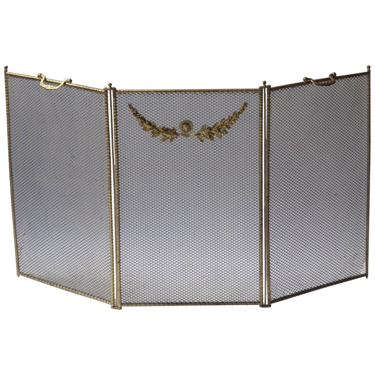 19th Century French Napoleon III Fireplace Screen or Fire Screen For Sale