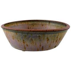 Helle Alpass '1932-2000', Large Bowl of Glazed Stoneware