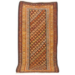 Antique Persian Orange Veramin Kilim Floor Area Rug