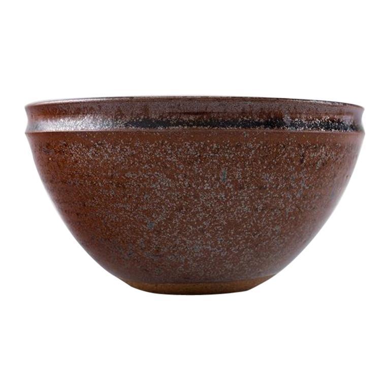 Helle Alpass, Bowl of Glazed Stoneware, 1960s-1970s
