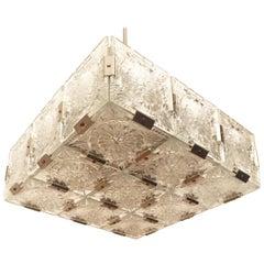 """Chandelier """"Cube"""" Made in Czechoslovakia in Fabrique Kamenicky Senov in 1960s"""
