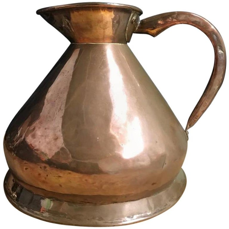 Early 20th Century Edwardian Copper Two Gallon Haystack Measure For Sale