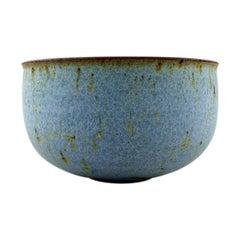 Helle Alpass '1932-2000', Large Bowl of Glazed Stoneware, 1960s-1970s