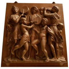 Bronze Plaque Ferdinand Barbedienne Foundry France, 19th Century
