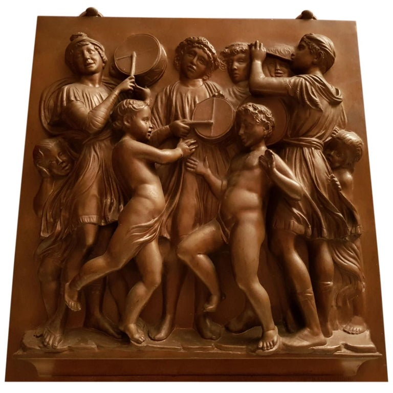 Bronze Plaque Ferdinand Barbedienne Foundry France, 19th Century For Sale