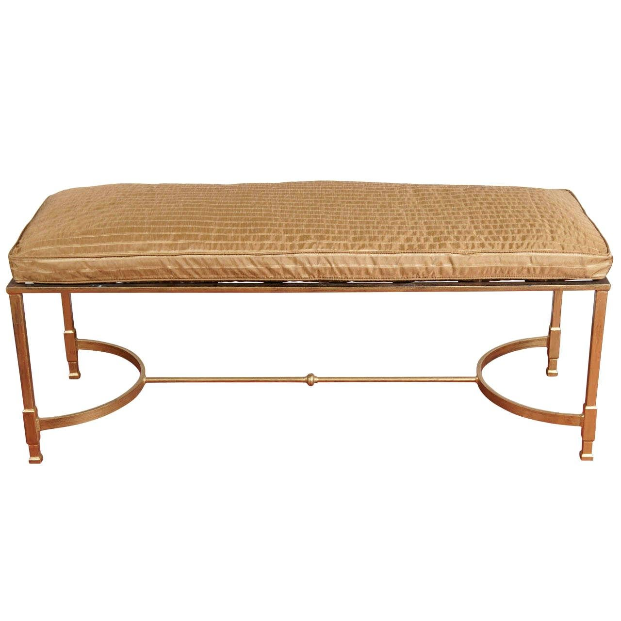 Custom Made Neoclassical Style Metal Bench or Coffee Table