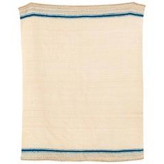 Vintage Moroccan Handmade Wool Kilim Floor Rug or Blanket