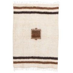 Vintage Turkish Goat Hair Kilim Floor Rug