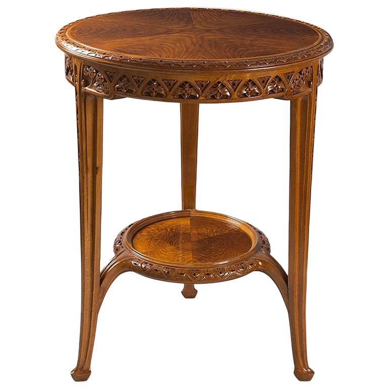 Art Nouveau Pedestal Table by Louis Majorelle
