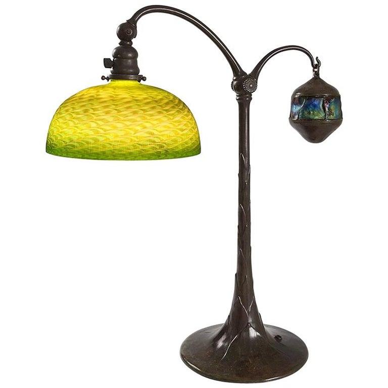 "Tiffany Studios ""Counter Balance"" Table Lamp For Sale"