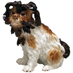 Meissen Bolognese Dog Model 2880 by Johann Joachim Kaendler Made circa 1870