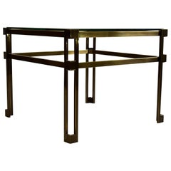 Maison Jansen Brass Hollywood Regency Side Table