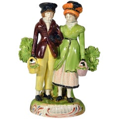 Staffordshire Group of Courting Couple or Dandies, circa 1825