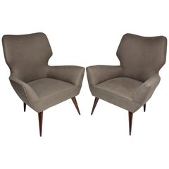 20th Century Italian Midcentury Armchairs, Set of Two, 1950s