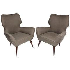 20th Century Italian Midcentury Armchairs, Set of Two, 1950s