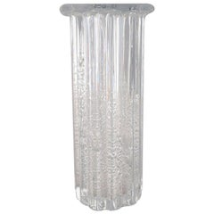 "Willy Johansson for Hadeland, Norway, Ribbed ""Atlantic"" Vase in Clear Art Glass"