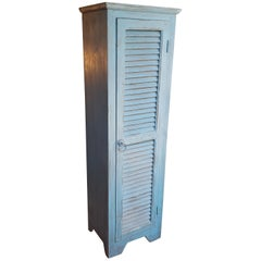 Moroccan Carved Storage Cabinet, Old Blue Window Shutter 2