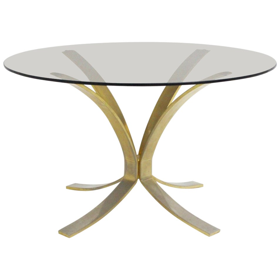 Mid-Century Modern Brass Glass Coffee Table by Roger Sprunger, 1960s
