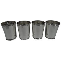 Set of 4 American Sterling Silver Mint Julep Cups by Frank W. Smith