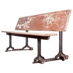1890s Victorian School Children's Bench, Desk