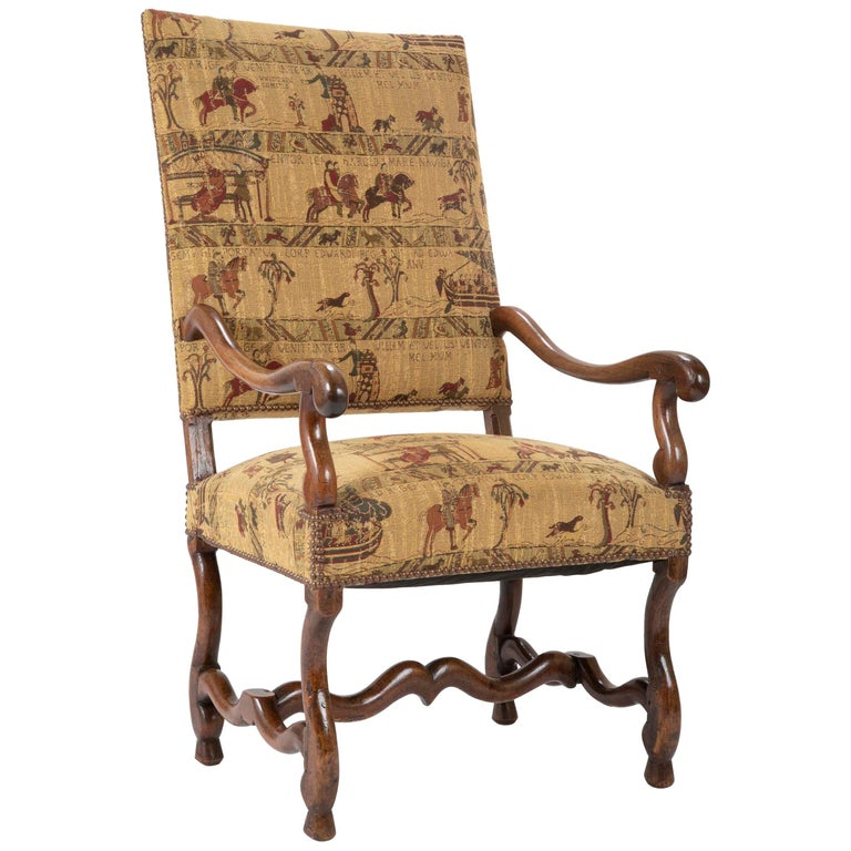 Fenh Louis XIII Style Walnut Armchair For Sale