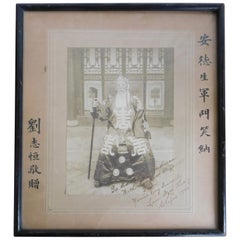 1922 Photograph of Chinese Chefoo Liu Dzu Hing Presented to USA Admiral Anderson