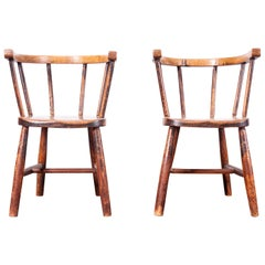 1890s Pair of Victorian Childs Chairs