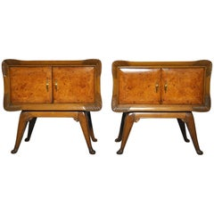 Italian Art Deco Nightstands, Set of 2, 1930s