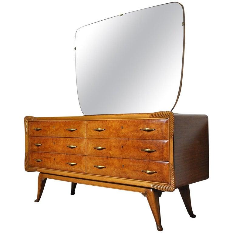 Art Deco Vanity Mirror Dresser Mid Century Modern End Side Tables Chest Cabinet