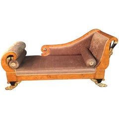 20th Century Classizim Style Empire Swan Chaise Lounge