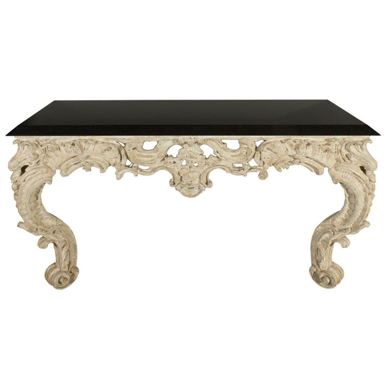 Ornate Wall-Mount Console Table by Sally Sirkin Lewis for J Robert Scott For Sale