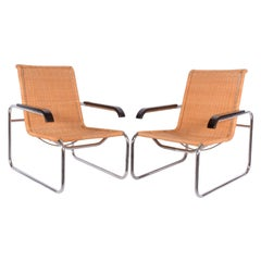 Pair of B35 Marcel Breuer Easy Chairs
