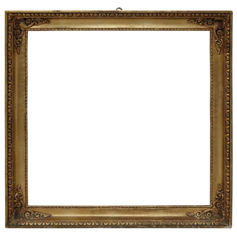 20th Century Italian Gilded Wood Frame For Sale