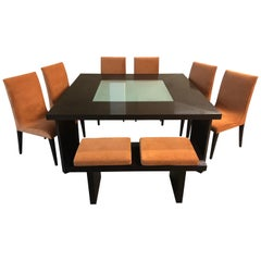 Creative Elegance Dining Table, Chairs and Bench Set