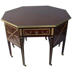 19th Century Russian Mahogany Brass-Mounted Partners Desk