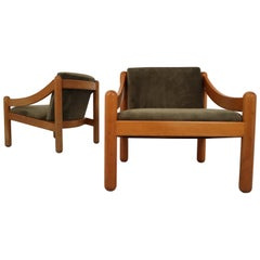Midcentury Cassina Carimate Chairs by Vico Magistretti, Italy, 1970s