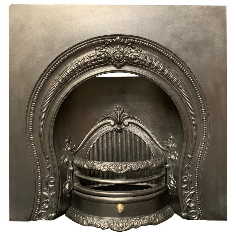 Mid-Victorian Style Horseshoe Arch Fireplace Insert For Sale
