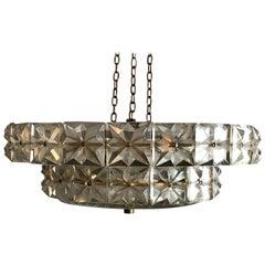 Midcentury Kinkeldey Chandelier, Cut Glass Crystal