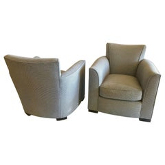 Pair of Contemporary Club Chairs by Donghia