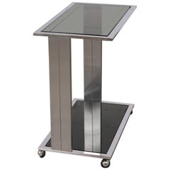Modern Chrome Frame Bar Cart