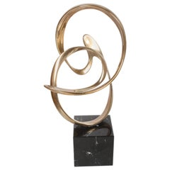 Tom Bennett Signed Bronze Abstract Sculpture, Passages in Time