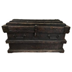 19th Century Iron and Wood Chest