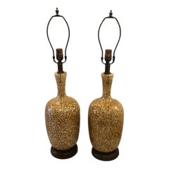 Pair of Glazed Ceramic Table Lamps