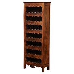 "Louis XV Carved 28 Wine Bottle Holder Cabinet with ""Chateau Margaux"""
